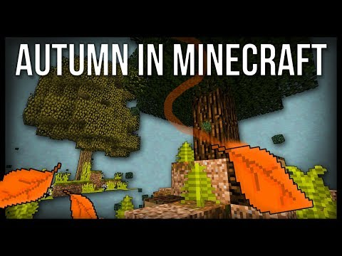 How to Make FALLING AUTUMN LEAVES in Minecraft!