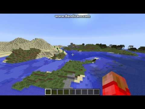 Minecraft 1.7.4 village seed: pacman