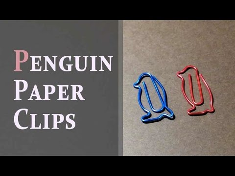 How to make Penguin Paper Clips