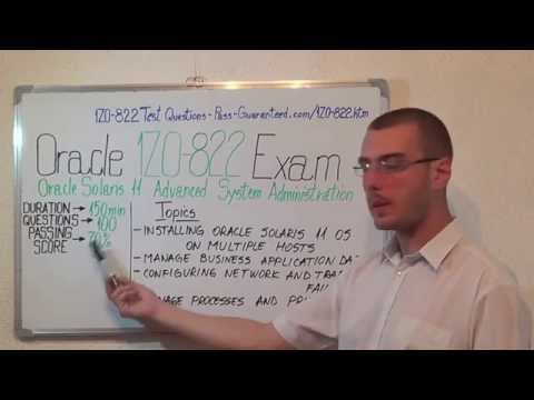 1Z0-822 – Oracle Exam Solaris 11 Test Administration Questions