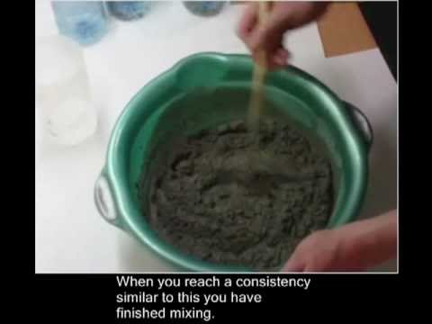 Mixing Mortar for Mould.