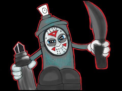 Graffiti Karakter Spray Pilox