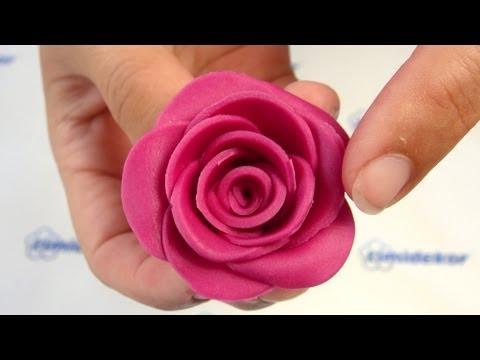 Fondant Rose Tutorial, 15 petals / Dortová růže návod