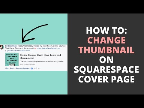 How to Change the Thumbnail on a Squarespace Cover Page