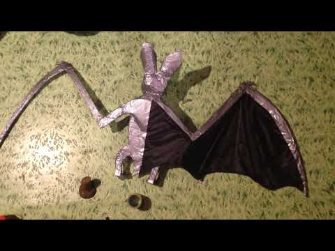 How to make a Bat from ducktape cardboard and umbrella