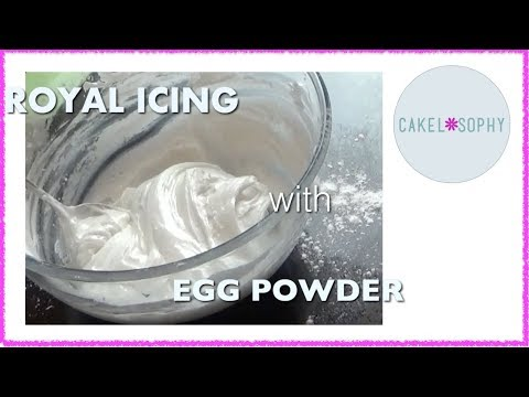 ROYAL ICING With Meri White, EGG White SUBSTITUTE: fast,  EASY  and NO Mixer Needed!
