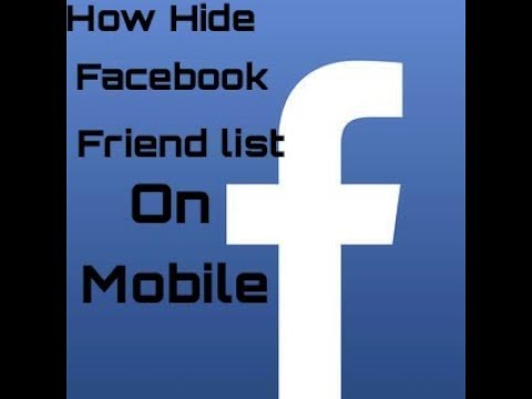 how to hide facebook mutual friends list
