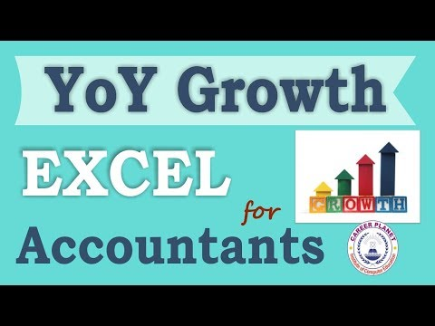 Microsoft Excel Year over Year Growth Rate Formula Part-3(Hindi)|Learn Excel for Accountants