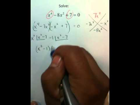 Moya Math Algebra 2 (Solving Quartics using The Maagic X-2)