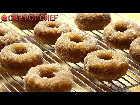 Oven Baked Cinnamon Donuts | One Pot Chef
