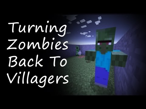 Minecraft - How To Turn Villager Zombies Back to Villagers