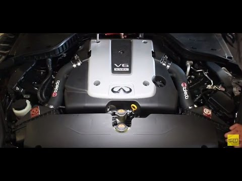 2014-2015 Infiniti Q50 Performance Cold Air Intake System Kit AFE Power Takeda Installation Overview