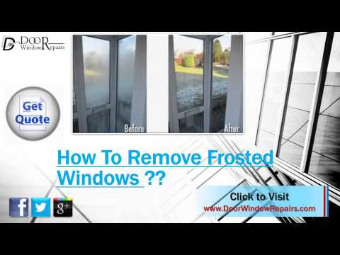 How Do I Remove Frosting Spray From Glass Window