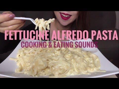 How To Make Creamy Fettucine Alfredo | ASMR | Eating Sounds (No Talking)