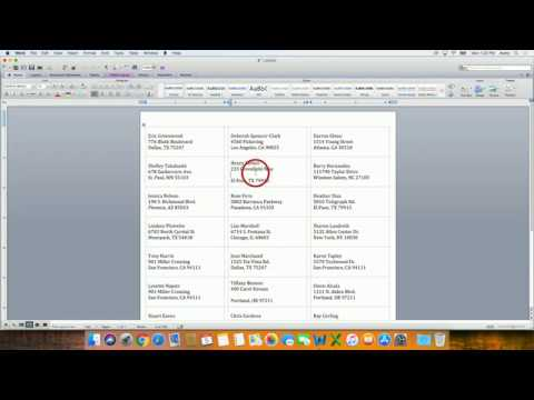 How to do a Mail Merge in Microsoft®  Word for Mac® 2011