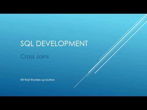 SQL Development - Cross Joins