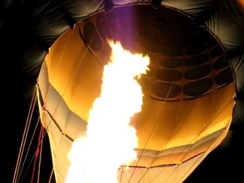Hot air balloon flame close up