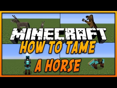 ✔ How To Tame and Ride a Horse in Minecraft