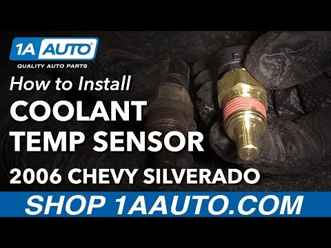 How to Install Replace Coolant Temperature Sensor 2002-06 Chevy Silverado 1500 V6 4.3L