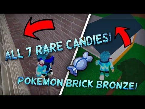 ALL 7 RARE CANDY LOCATIONS IN POKEMON BRICK BRONZE!! (Pokemon Brick Bronze Tutorial) - zFrozt