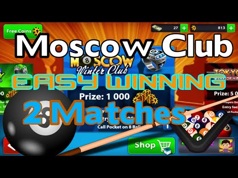8 Ball Pool - Moscow Winter Club Easy Winning | 2 Matches