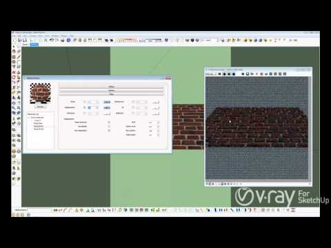 V-Ray for SketchUp - Bump and Displacement - tutorial
