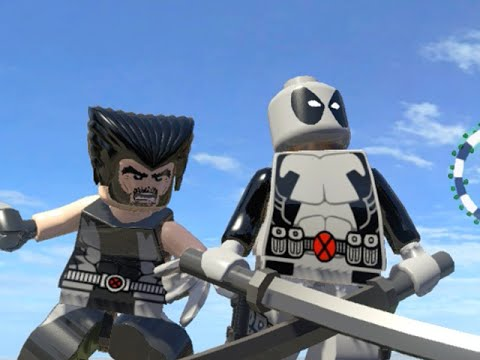 LEGO Marvel Superheroes - X-FORCE DEADPOOL & WOLVERINE FREE ROAM GAMEPLAY (MOD SHOWCASE)