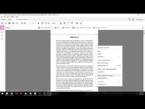 How to remove a specific part in a document using Adobe Pro DC's redaction tool.
