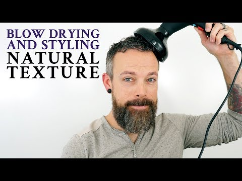 How to blow dry hair with a diffuser - Men's curly hair tutorial