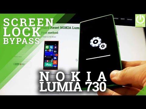 Hard Reset NOKIA Lumia 730 - how to bypass Lock Screen Pattern