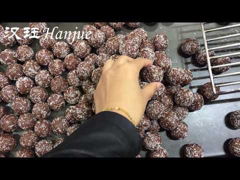 Hanjue Encrusting machine+Rolling machine+Covering machine for Rum ball/Cheese ball/Sesame ball
