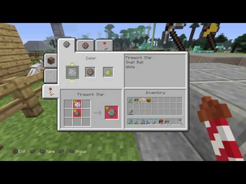 How to use firework rockets to fly in the new Minecraft update! Ps4/Xbox/PC
