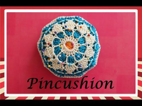How to make crochet pincushion