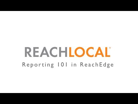 Reporting 101 in ReachEdge