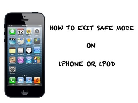 How to exit safe mode on iPhone/iPod/iPad (EASY WAY)