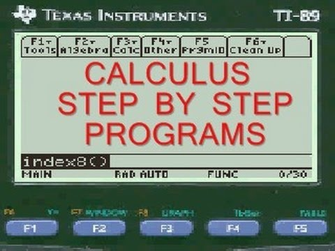 Antiderivative Calculator | sin 2x  | TI-89 programs | Every Step Calculus