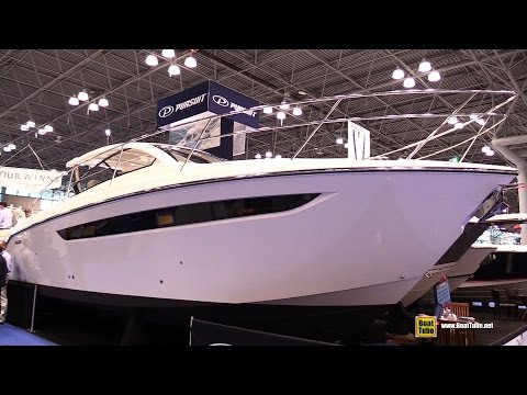 2015 Pursuit SC 365i Sport Coupe Motor Yacht - Walkaround - 2015 New York Boat Show