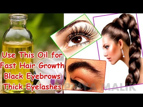 Use This Oil for Fast Hair Growth, Black Thick Eyebrows and Eyelashes Growth - Priya Malik