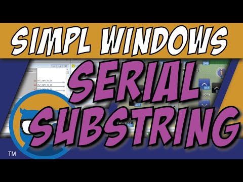 Crestron SIMPL Windows SERIAL SUBSTRING Symbol Tutorial