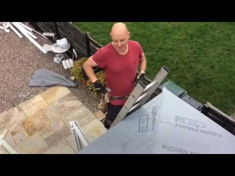 Replacing conservatory roof with light weight tiles
