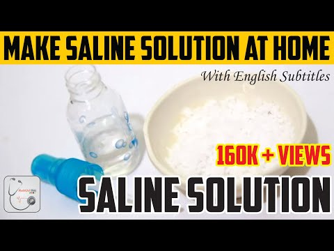 Saline Solution | How to Make a Saline Solution