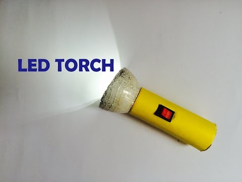 how to make a torch with led light