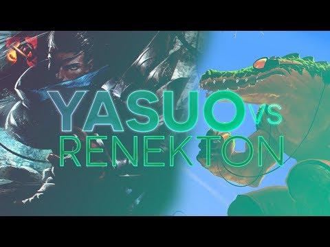 Yasuo TOP - Yasuo vs Renekton Patch 7.10 (Fervor)