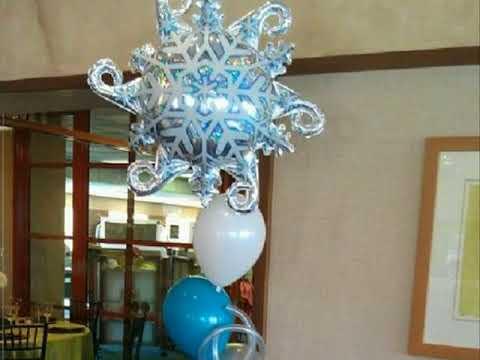 Winter wonderland balloons