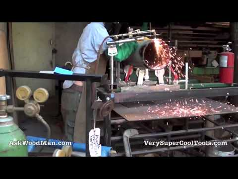 Cutting Torch 2 of 3: Oxy Acetylene Torch Holder / Pipe Rolling System
