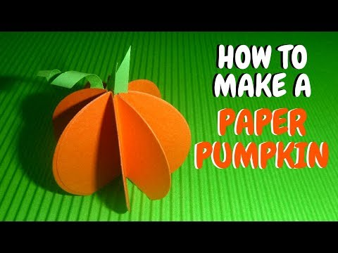 How to Make a Paper Pumpkin | Fall Crafts for Kids