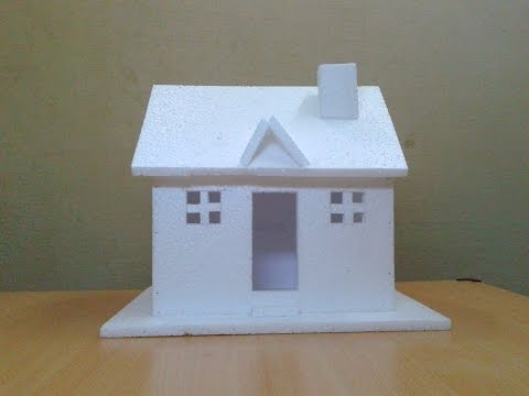 How to Make a Small Thermocol House Model: Craft Ideas for Kids