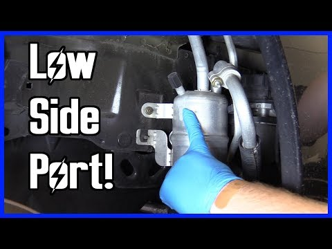 How to Find the Low Side A/C Service Port