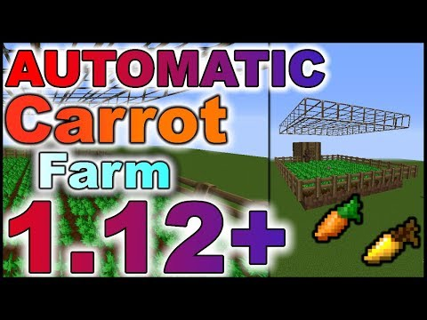 ✔Minecraft (1.12+) Tutorial - FULLY AUTOMATIC CARROT FARM with villager mechanics (1.8 to 1.12)