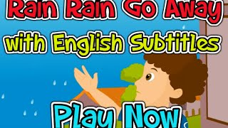 Rain Rain Go Away with English Subtitles - Nursery Rhymes & Songs in HD